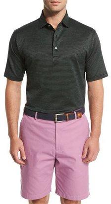 Peter Millar Hoy Pindot Short-Sleeve Polo Shirt, Black $98 thestylecure.com