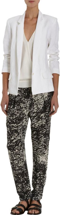 Nili Lotan Mineral-Print Pull-On Pants