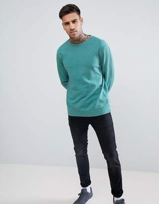 Asos Design DESIGN sweatshirt in green marl
