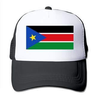 Bosb-00 Unisex Mesh Hats South Sudan Flag Adjustable Snapback Peak Cap
