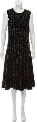 Jason Wu Wool Midi Dress Black Wool Midi Dress