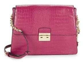 Calvin Klein Flap Leather Crossbody Bag