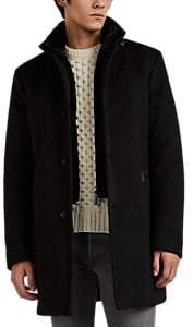 Moorer Men's Fur-Trimmed Cashmere Melton Down Coat - Charcoal