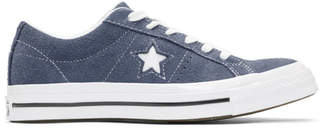 Converse Navy Suede One Star Sneakers