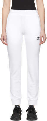 adidas White Trefoil Lounge Pants