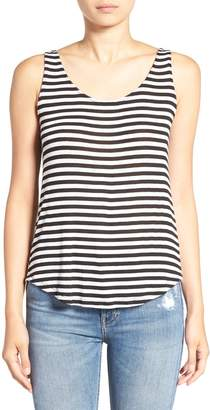 Splendid Stripe Cowl Back Tank