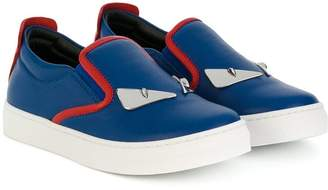 Fendi plaque detail slip-on sneakers