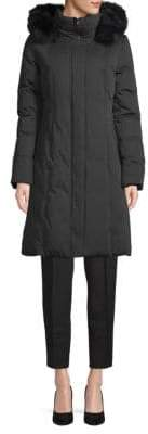 Soia & Kyo Fox Fur Trimmed Down Coat