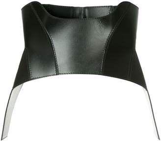 leather corset belt