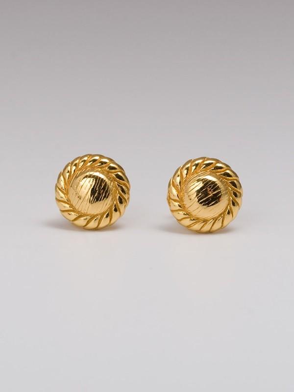 Gorjana Rope Circle Studs in Gold
