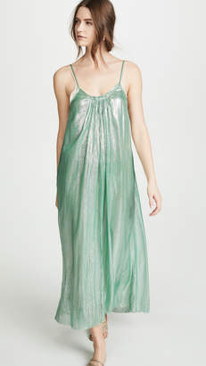 Forte Forte Metallic Chiffon Silk Dress with Straps