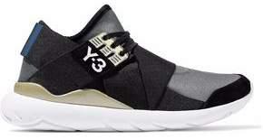 Y-3 Suede-Trimmed Color-Block Neoprene Sneakers