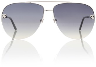 Cartier Eyewear Collection Panthere de aviator sunglasses