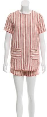 Rachel Zoe Striped Short Sleeve Top