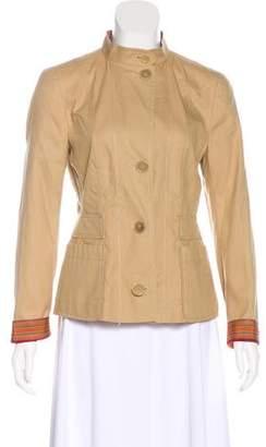 Akris Punto Crew Neck Button-Up Jacket