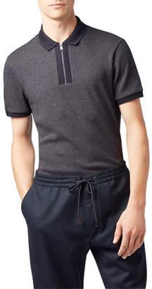 BOSS Men's Payto Zip-Up Polo Shirt