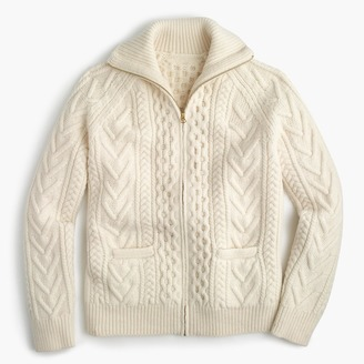 American wool full-zip sweater with Imperial yarn