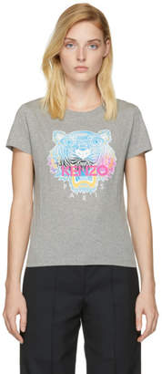 Kenzo Grey Limited Edition Rainbow Tiger T-Shirt