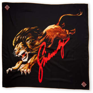 Givenchy Multicolor Lion Print Scarf