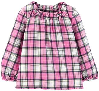 Carter's Toddler Girl Plaid Flannel Top