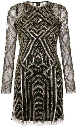 Aidan Mattox geometric sequined mini dress