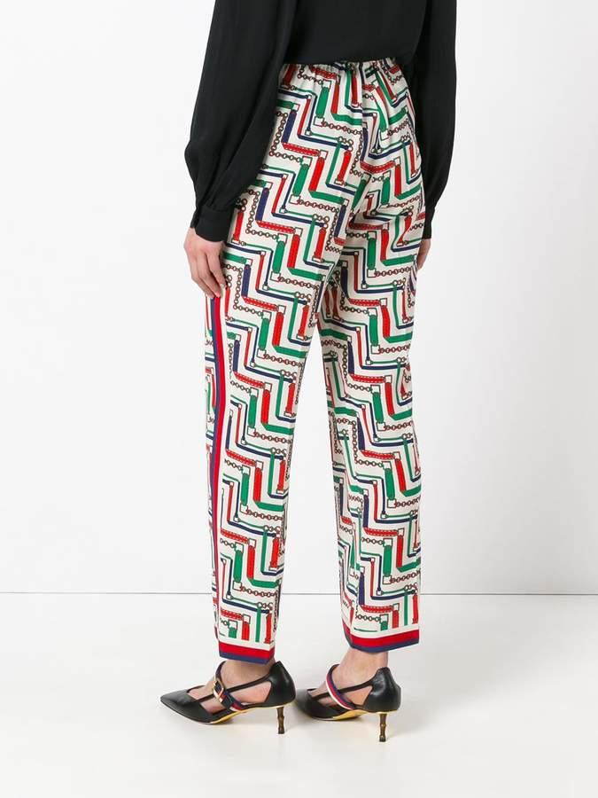 Gucci bridal strap printed pajama trousers