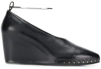 Jil Sander wedge heel pumps