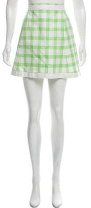 Courreges Plaid Mini Skirt