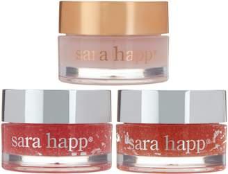 Sara Happ Set of 3 Lip Scrub & Lip Slip Gift Set