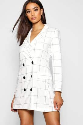 boohoo Window Pane Check Blazer Dress