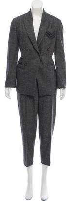 Brunello Cucinelli Monili-Trimmed Tweed Pantsuit w/ Tags