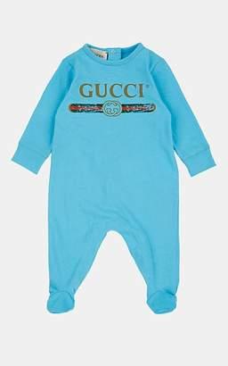 5619a0772 Gucci Infants' Vintage-Logo Cotton Footie - Blue