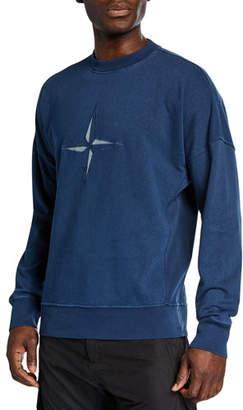 Stone Island Men's 80s Washed Logo Sweatshirt