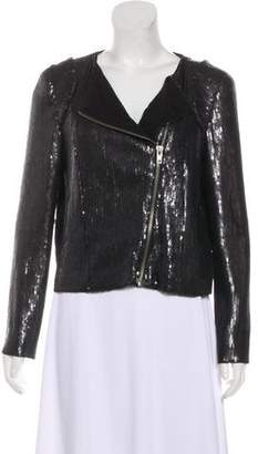 IRO Asymmetrical Sequin Jacket