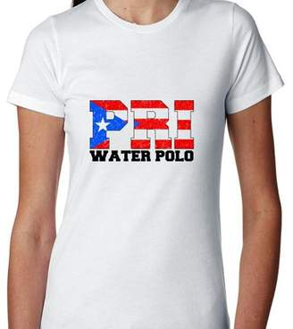 Hollywood Thread Olympic Water Polo - Puerto Rico Women's Cotton T-Shirt