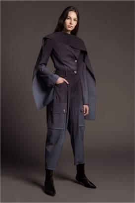 Sonia Rykiel Natural Stretch Wool Scarf Jacket