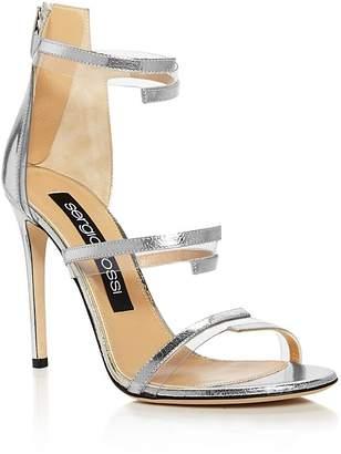 Sergio Rossi Karen Triple Strap Illusion High-Heel Sandals