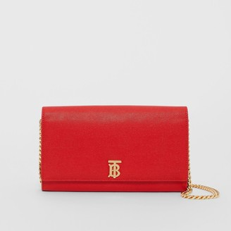Burberry Monogram Motif Leather Wallet with Detachable Strap