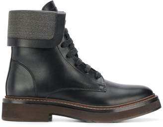 Brunello Cucinelli lace-up front boots