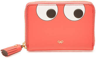 Anya Hindmarch Small Zip Round Eyes Leather Wallet