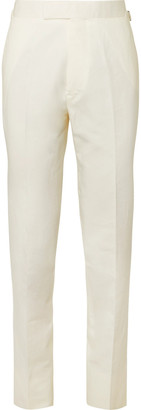 Kingsman Cotton, Linen And Silk-Blend Suit Trousers