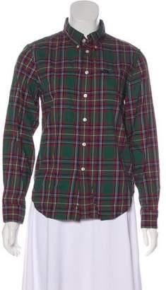 Ralph Lauren Plaid Long Sleeve Button-Up Top