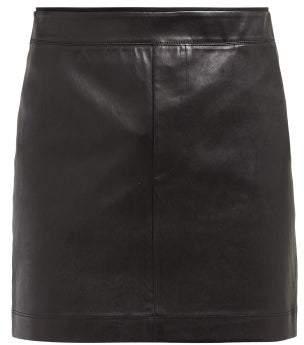Helmut Lang Leather Mini Skirt - Womens - Black