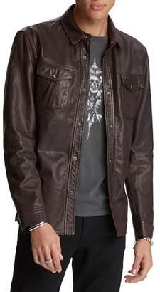 John Varvatos Men's Napa Leather Shirt Jacket