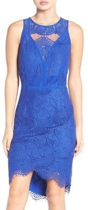 Adelyn Rae Lace Hi-Lo Sheath Dress