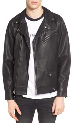 Obey Bastards Faux Leather Biker Jacket