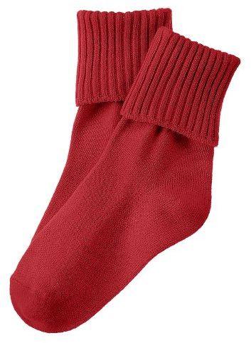 Red Foldover Sock