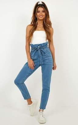 Showpo Mikey Jeans in mid wash denim - 14 (XL) Jeans