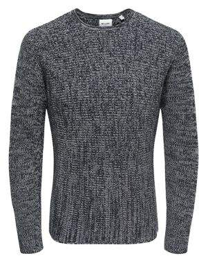 ONLY & SONS Melange Knitted Cotton Sweater