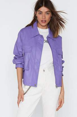Nasty Gal Oversize to the Occassion Faux Leather Jacket